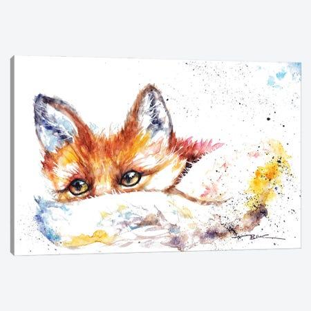 Peeping Fox Canvas Print #BSR56} by BebesArts Canvas Art