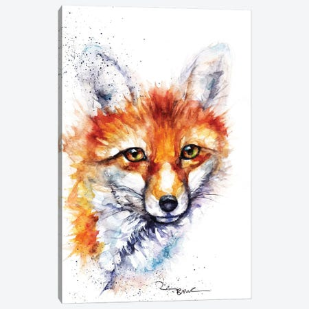 Pretty Vixen Canvas Print #BSR57} by BebesArts Canvas Artwork
