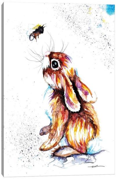 Rabbit And Bee I Canvas Art Print