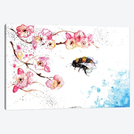 Bee And Blossom Canvas Print #BSR5} by BebesArts Art Print