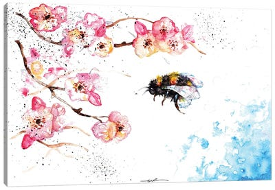 Bee And Blossom Canvas Art Print