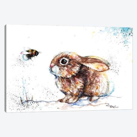 Rabbit And Bee III Canvas Print #BSR61} by BebesArts Canvas Art