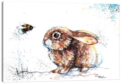 Rabbit And Bee III Canvas Art Print