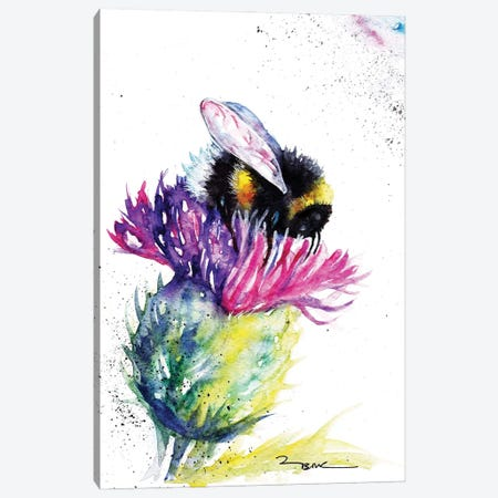 Bee And Thistle Canvas Print #BSR6} by BebesArts Art Print