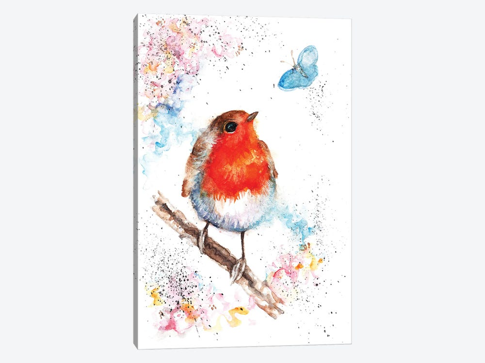 Robin And Small Blue by BebesArts 1-piece Canvas Art