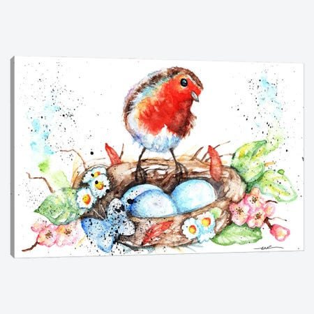 Robin's Nest Canvas Print #BSR72} by BebesArts Canvas Print