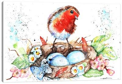 Robin's Nest Canvas Art Print