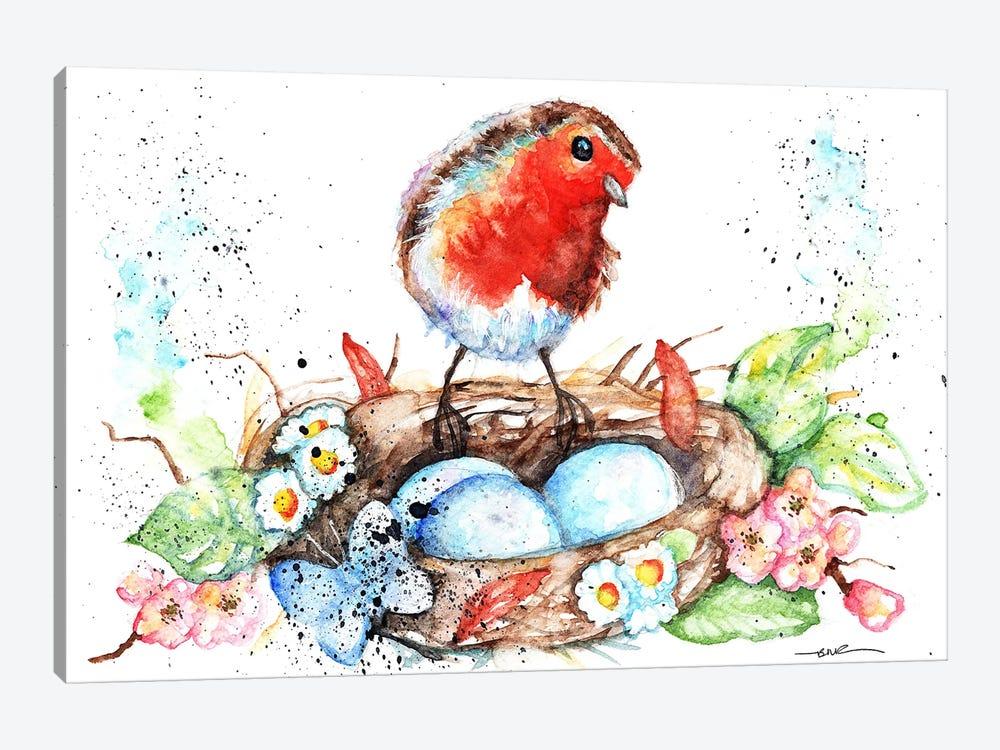 Robin's Nest by BebesArts 1-piece Canvas Art Print
