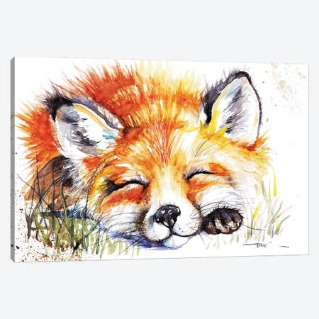 Sleeping Fox Canvas Print #BSR74} by BebesArts Canvas Art