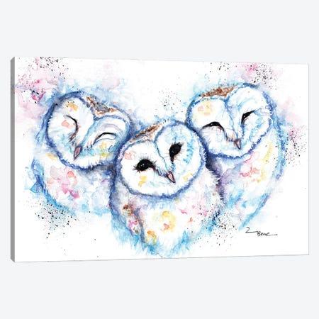 Sleepy Time Owls Canvas Print #BSR75} by BebesArts Canvas Artwork