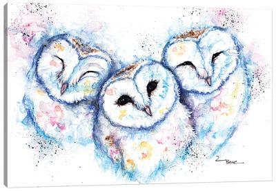 Sleepy Time Owls Canvas Art Print