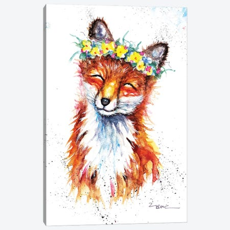 Spring Fox Canvas Print #BSR76} by BebesArts Canvas Art