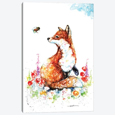 Summer Fox Canvas Print #BSR79} by BebesArts Canvas Print