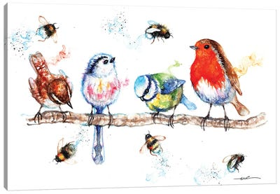 The Birds And The Bees Canvas Art Print