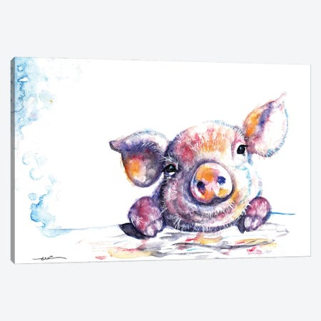This Little Piggy Canvas Print #BSR82} by BebesArts Canvas Wall Art
