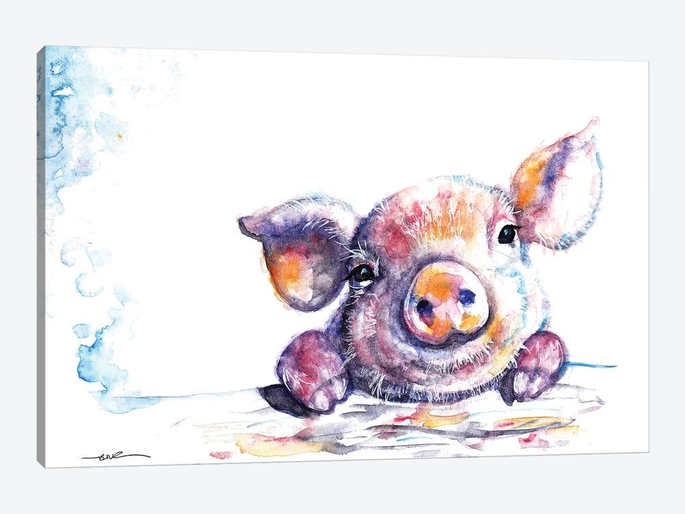 This Little Piggy by BebesArts 1-piece Canvas Artwork