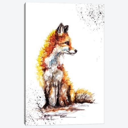 Watchful Fox Canvas Print #BSR87} by BebesArts Canvas Print