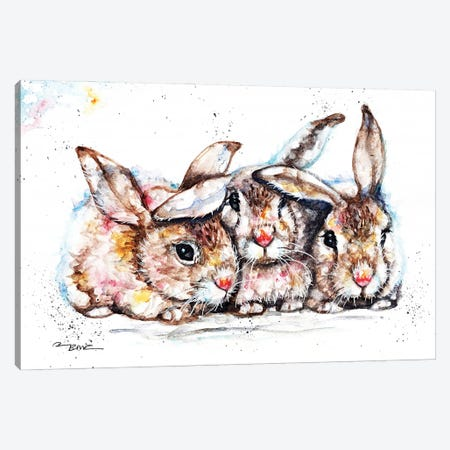 We're All Ears! Canvas Print #BSR88} by BebesArts Canvas Artwork