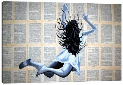 The Speed Reader Canvas Art Print