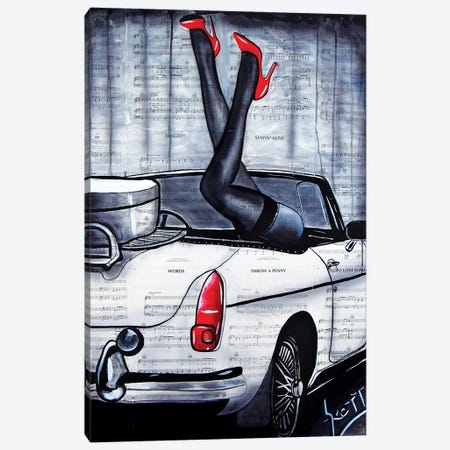 Rearview Canvas Print #BST21} by Brandon Scott Canvas Artwork