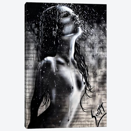 The Rain Canvas Print #BST35} by Brandon Scott Canvas Wall Art