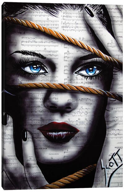 Bound By Words Canvas Art Print