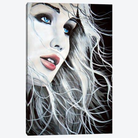 Jennifer Lawrence Canvas Print #BST54} by Brandon Scott Canvas Artwork