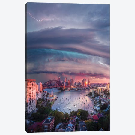 Sydney Vortex Canvas Print #BSV12} by Brent Shavnore Canvas Art Print