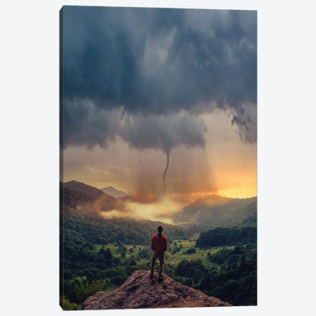 Tornado Thoughts Canvas Print #BSV14} by Brent Shavnore Canvas Wall Art