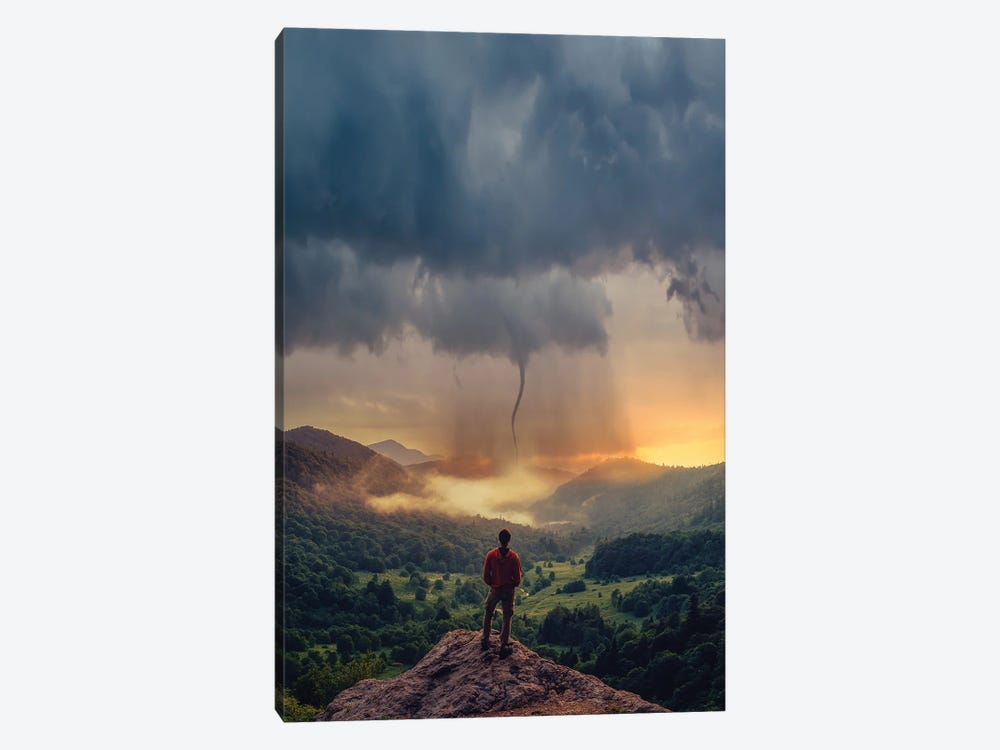 Tornado Thoughts by Brent Shavnore 1-piece Canvas Wall Art