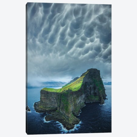 Foggy Faroe Islands Canvas Print #BSV15} by Brent Shavnore Canvas Art