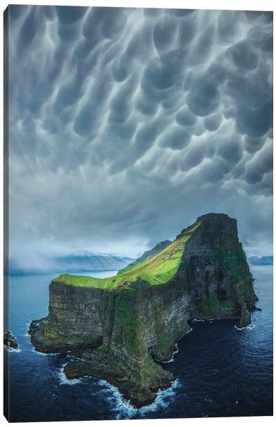 Foggy Faroe Islands Canvas Art Print