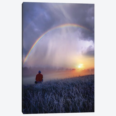 Frozen Rainbows Canvas Print #BSV16} by Brent Shavnore Canvas Wall Art