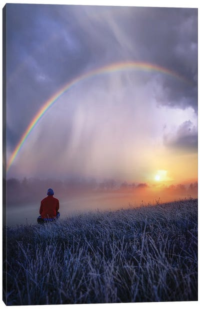 Frozen Rainbows Canvas Art Print