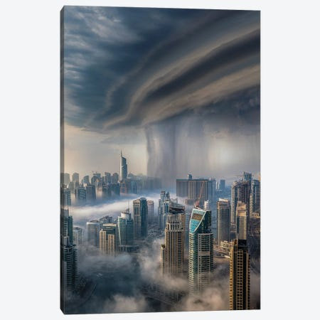 Dubai Downpour Canvas Print #BSV19} by Brent Shavnore Canvas Print