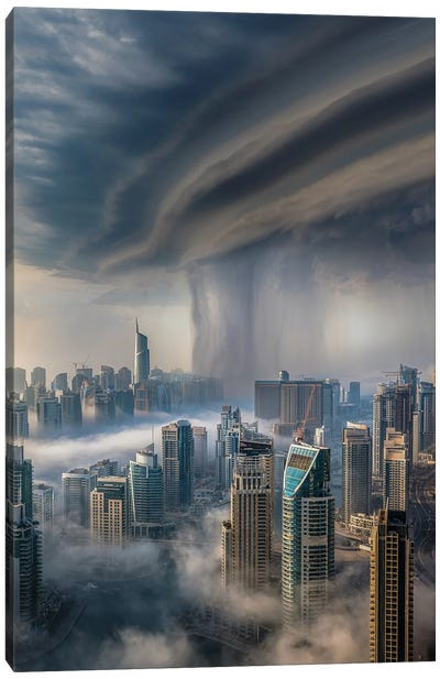 Dubai Downpour Canvas Art Print