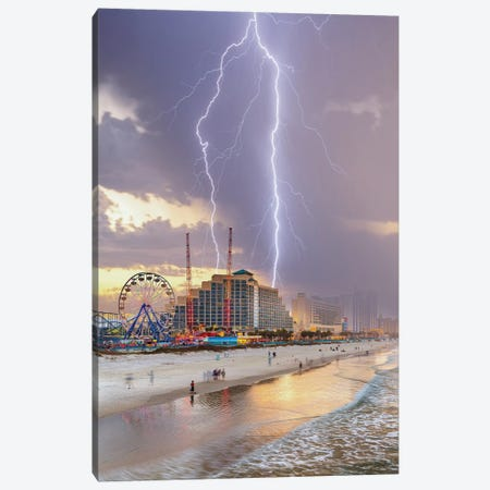 Chaos At Daytona Beach Canvas Print #BSV1} by Brent Shavnore Canvas Artwork