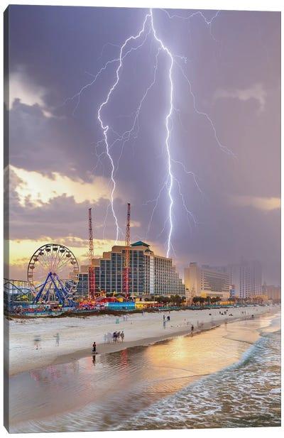 Chaos At Daytona Beach Canvas Art Print