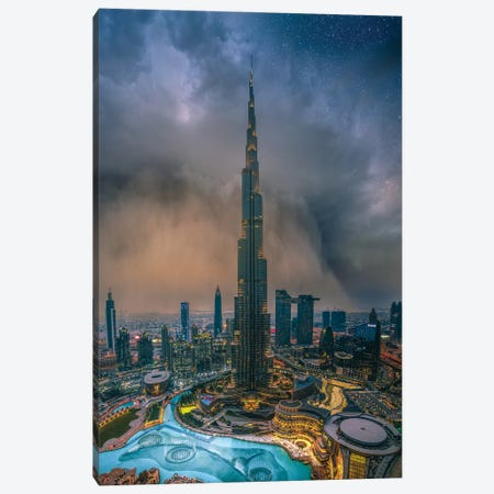Dubai Sandstorm Canvas Print #BSV20} by Brent Shavnore Canvas Wall Art