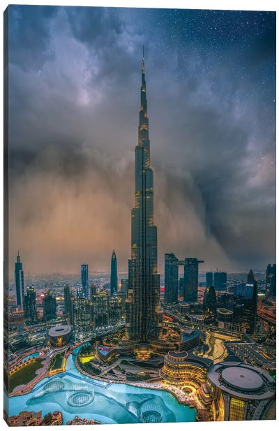 Dubai Sandstorm Canvas Art Print