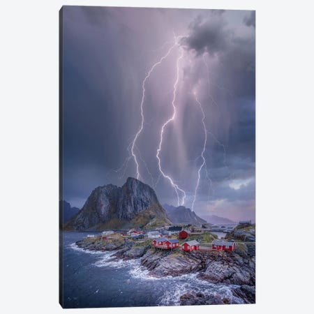 Norway Lights Canvas Print #BSV22} by Brent Shavnore Canvas Artwork