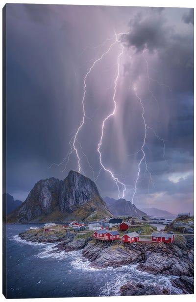 Norway Lights Canvas Art Print