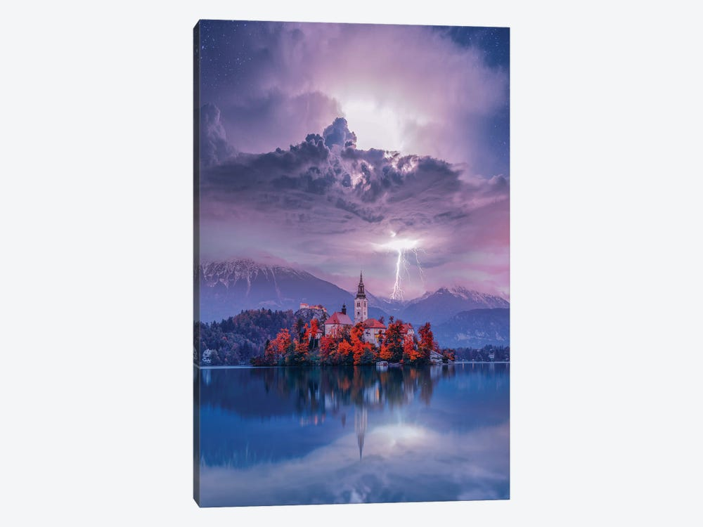 Lake Bled Perfection by Brent Shavnore 1-piece Canvas Wall Art
