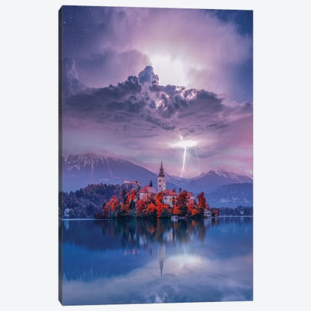 Lake Bled Perfection Canvas Print #BSV27} by Brent Shavnore Canvas Art Print