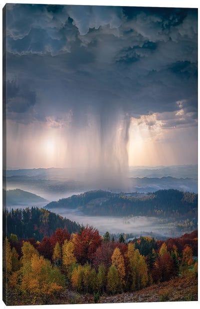 Autumn Downpour Canvas Art Print