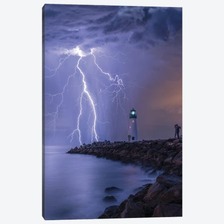 Lightning Kiss Canvas Print #BSV29} by Brent Shavnore Canvas Wall Art