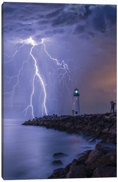 Lightning Kiss Canvas Art Print