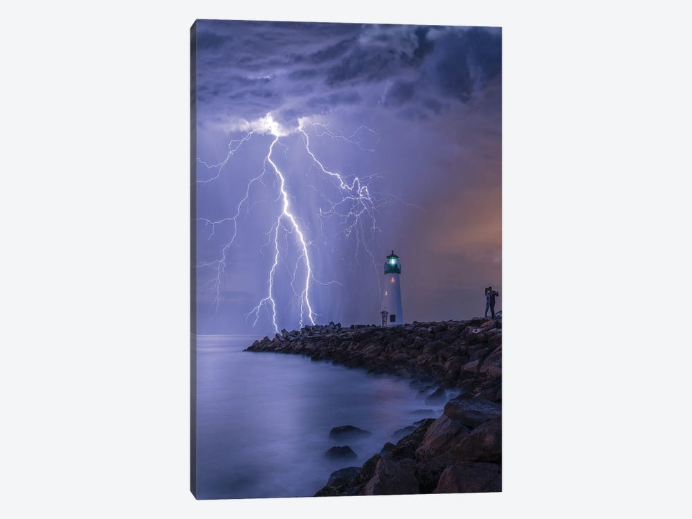 Lightning Kiss by Brent Shavnore 1-piece Canvas Artwork