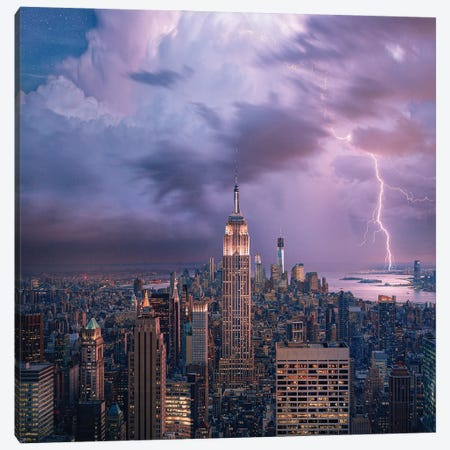 New York City Dreaming Canvas Print #BSV2} by Brent Shavnore Canvas Wall Art