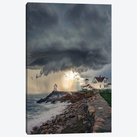 Mass Lighthouse Canvas Print #BSV33} by Brent Shavnore Canvas Art Print